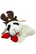 MULTIPET Laying Lamb Chop with Antlers Squeaky Plush Toy
