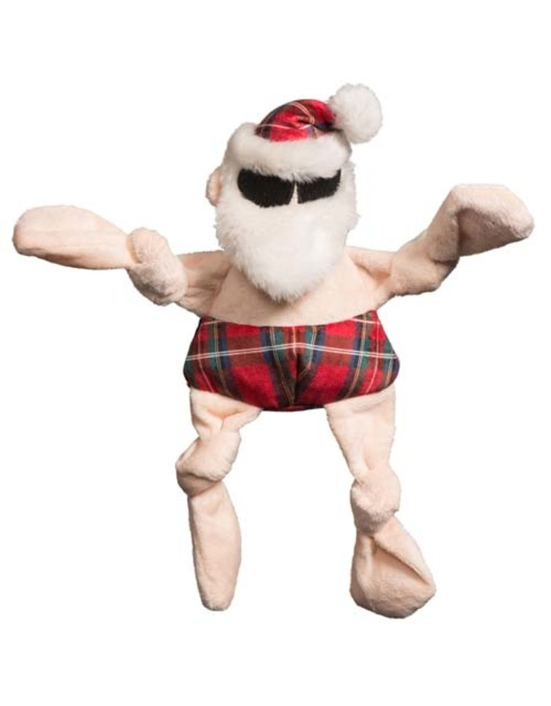 Hugglehounds HUGGLEHOUNDS Knottie Totally Tartan Beach Bum Santa Toy