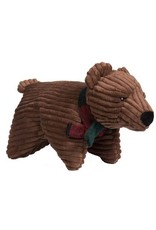 Hugglehounds HUGGLEHOUNDS Squooshie Brown Bear Dog Toy