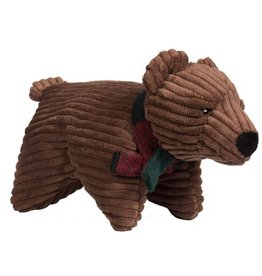 Hugglehounds HUGGLEHOUNDS Squooshie Brown Bear Dog Toy
