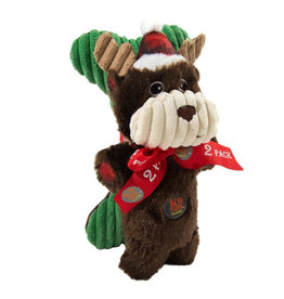 CHARMING CHARMING Snuggle Babies Holiday Moose with Bone Dog Toy