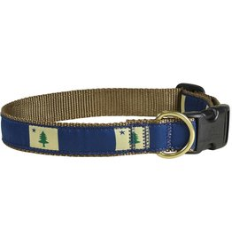 THE BELTED COW Original Maine Flag Dog Collar