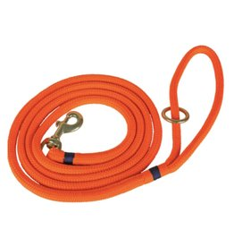 THE BELTED COW THE BELTED COW Maine Dock Line Dog Lead in Orange with Navy Trim