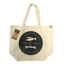 FISH & BONE FISH & BONE Cotton Canvas Tote Bag