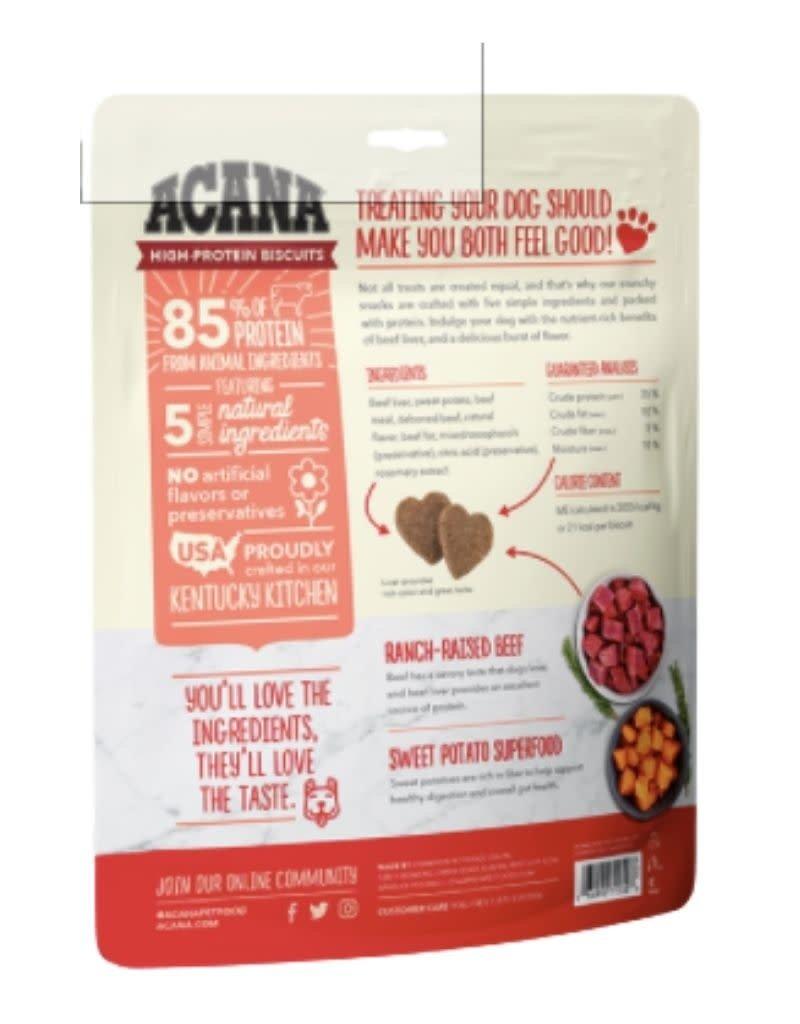 Acana ACANA High-Protein Biscuits Crunchy Beef Liver Recipe 9oz