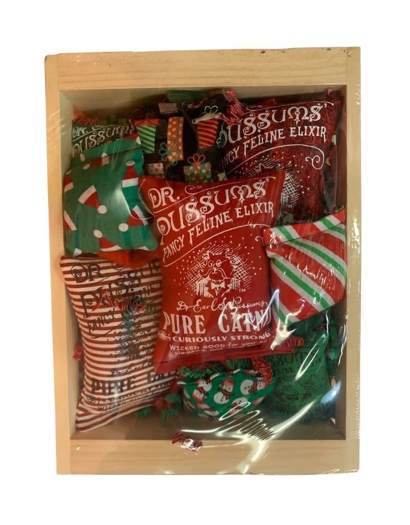 Pussums Cat Co. Llc Dr. Pussums Kitty Krate Holiday Red & Green