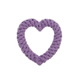 Jax & Bones GOOD KARMA Purple Heart Rope Toy