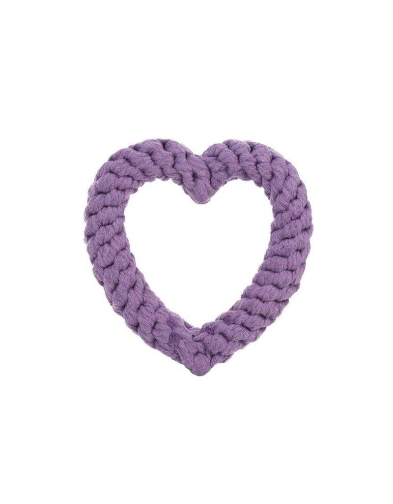 Jax & Bones GOOD KARMA Purple Heart Rope Toy