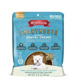 THE MISSING LINK THE MISSING LINK Smartmouth Dental Chews for Petite/XSmall Dogs 28CT