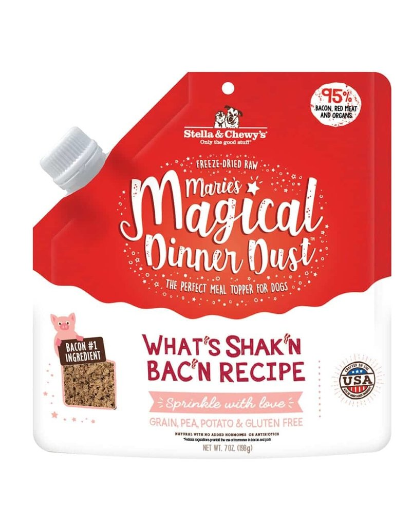 Stella & Chewys STELLA & CHEWY'S Magical Dinner Dust What's Shak'n Bac'n for Dogs 7oz