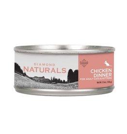 DIAMOND NATURALS DIAMOND NATURALS Chicken Dinner Adult & Kitten Canned Food Case 24/5.5oz