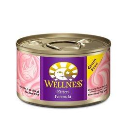 WellPet WELLNESS Kitten Canned Cat Food Case 24/3oz