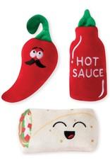 Fringe Studio FRINGE Hot & Spicy 3 Piece Plush Dog Toy