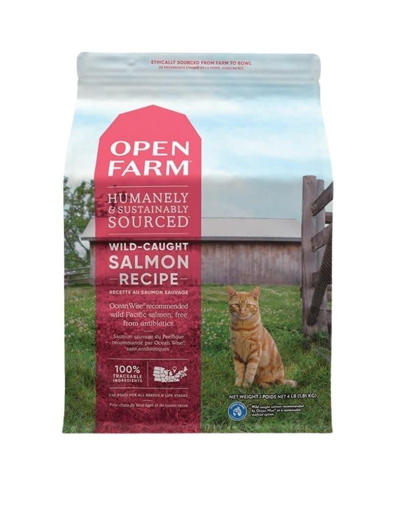 Open Farm OPEN FARM Wild Caught Salmon Dry Cat Food  4 lb.