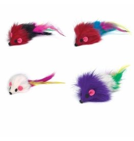 Savvy Tabby SAVVY TABBY  Furry Mice Cat Toy
