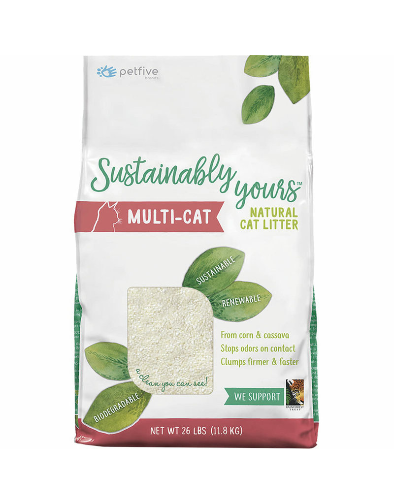 Worlds Best Cat Litter SUSTAINABLY YOURS Clumping Multi-Cat Natural Cat Litter