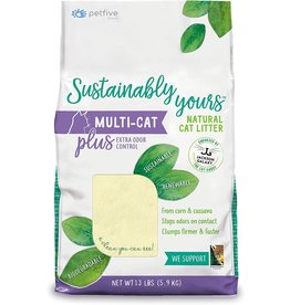 Sustainably Yours SUSTAINABLY YOURS Clumping Multi-Cat PLUS Natural Cat Litter