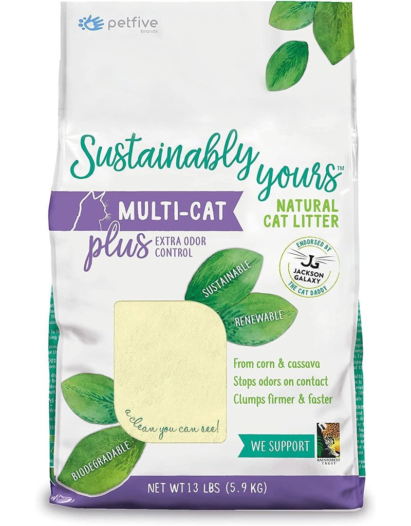 Worlds Best Cat Litter SUSTAINABLY YOURS Clumping Multi-Cat PLUS Natural Cat Litter