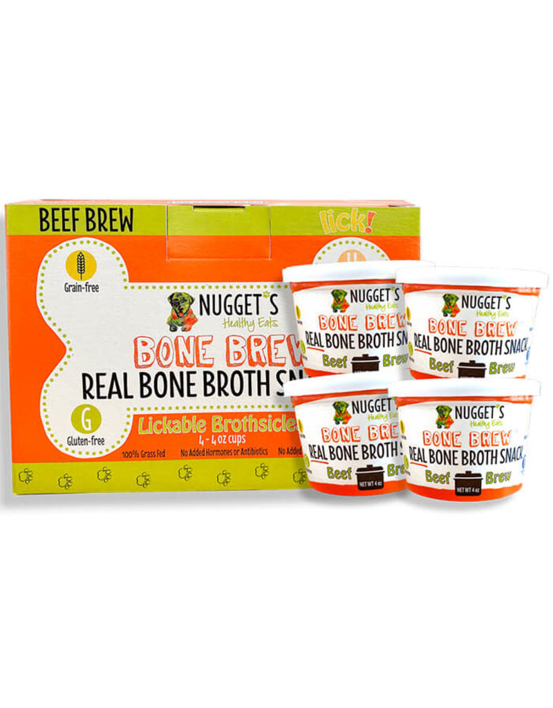 Nugget's NUGGET'S Frozen Beef Bone Brothsicles 4 oz CASE/ 4