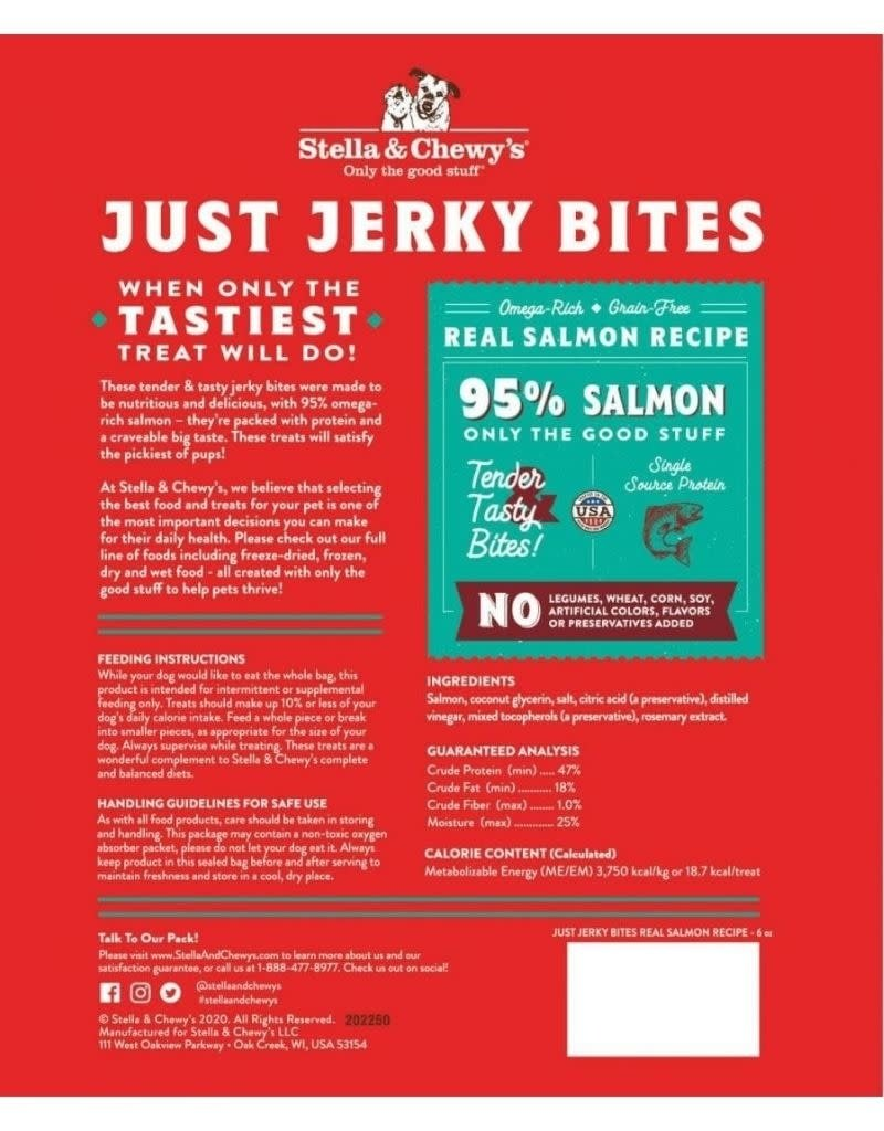 Stella & Chewys STELLA & CHEWY'S Just Jerky Bites 6 oz Salmon