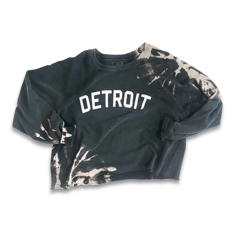 Hand-bleached Detroit Crop Crew