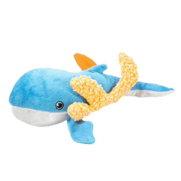 Kong Kong Riptides Squeak & Crinkle Whale Large
