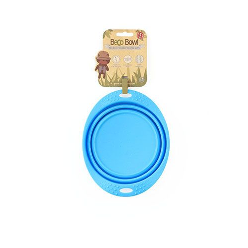 Beco Beco Travel Collapsable Dish Blue