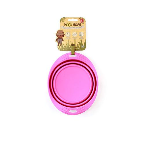 Beco Beco Travel Collapsable Dish Pink