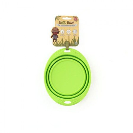 Beco Beco Travel Collapsable Dish Green