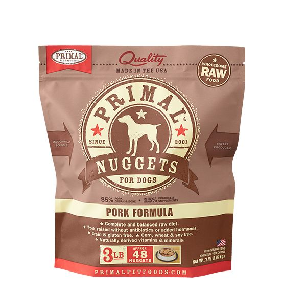 Primal Primal Dog Raw Pork Nuggets 3lb