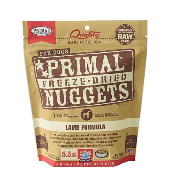 Primal Dog Freeze Dried Lamb Nuggets Calgary Ab