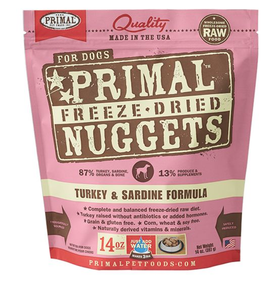 Primal Primal Dog Freeze Dried Turkey Sardine Nuggets
