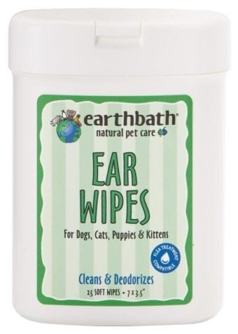Earthbath Ear Wipes Earthbath 25 ct