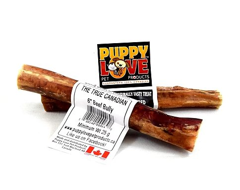"Puppy Love Puppy Love Beef Bully Stick 6"" 10 pk"