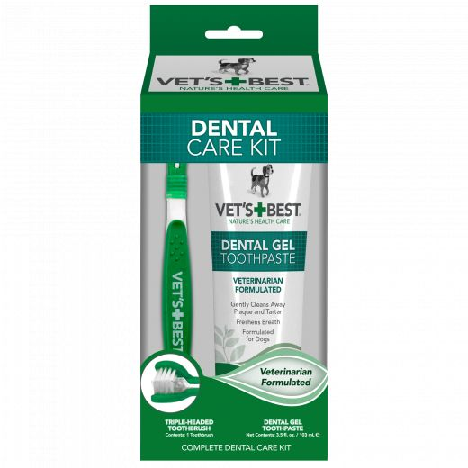 Vet's Best Vets Best Toothbrush & Gel Kit