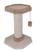Herta Pet Scratch Post 2' High Deluxe Perch Carpeted