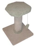 Herta Pet Scratch Post 2' High Flat Top Carpeted
