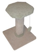Herta Pet Scratch Post 2' High Flat Top Carpeted