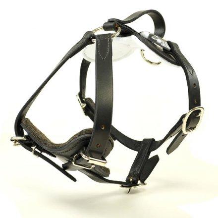 Redline K9 Leather Protection Harness