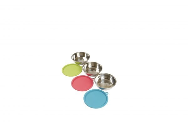 Messy Mutts Messy Mutts Raw Food Bowl & Cover Set of 3