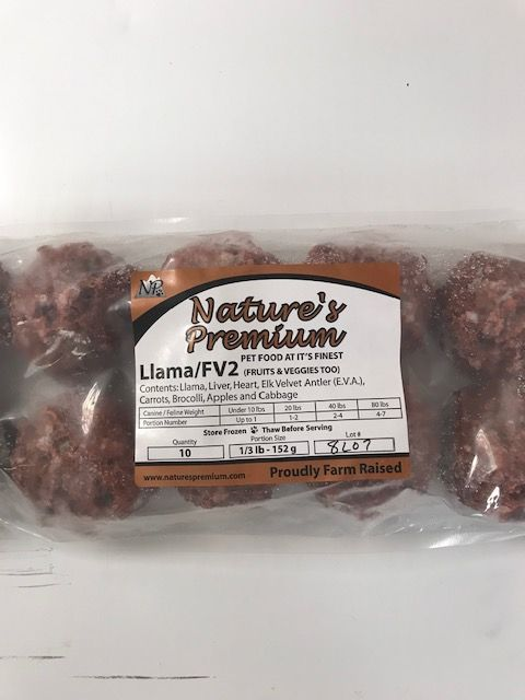 Nature's Premium Nature's Premium Llama FV2 Meatballs 3.3lb