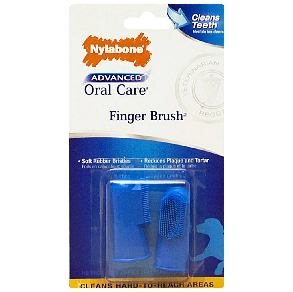 Nylabone Advanced Oral Care Finger Toothbrush 2PK
