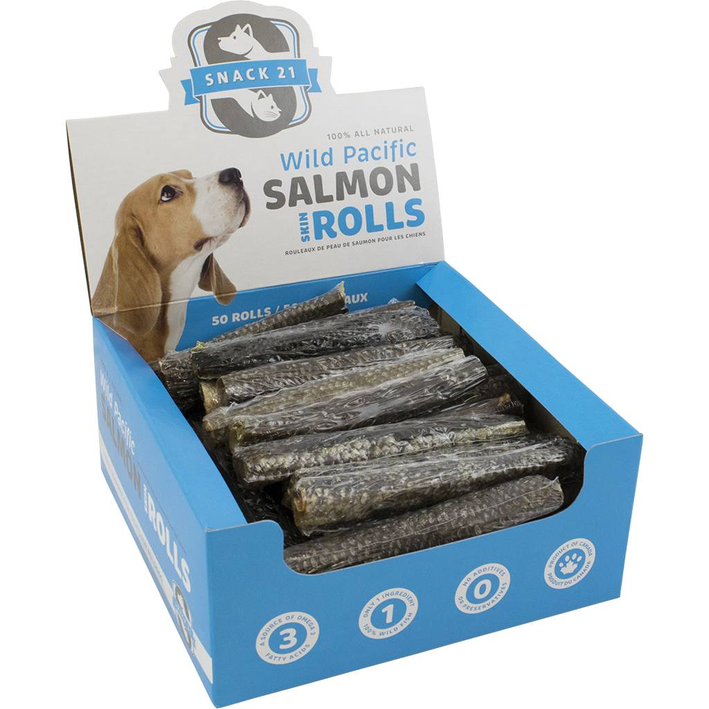 Snack 21 Salmon Skin Rolls Dog