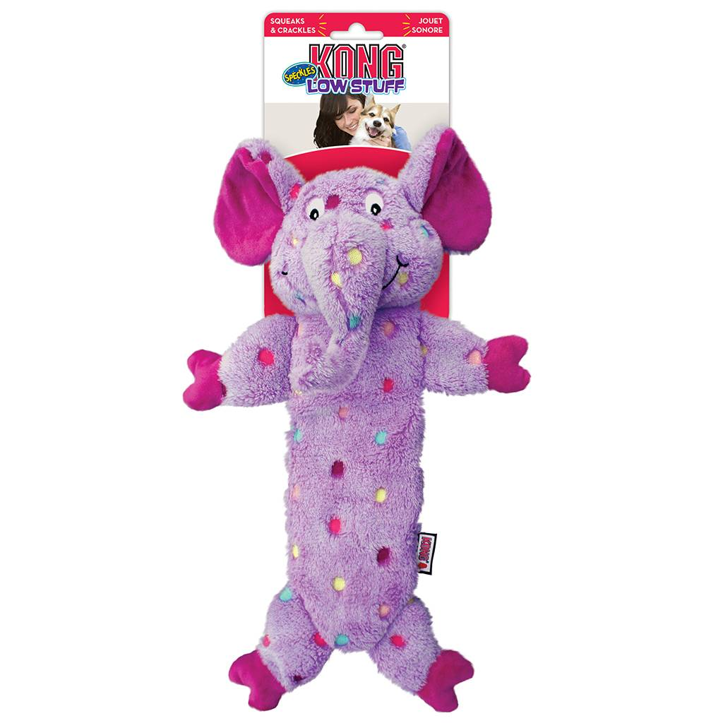 Kong Kong Low Stuffing Speckles Elephant Large