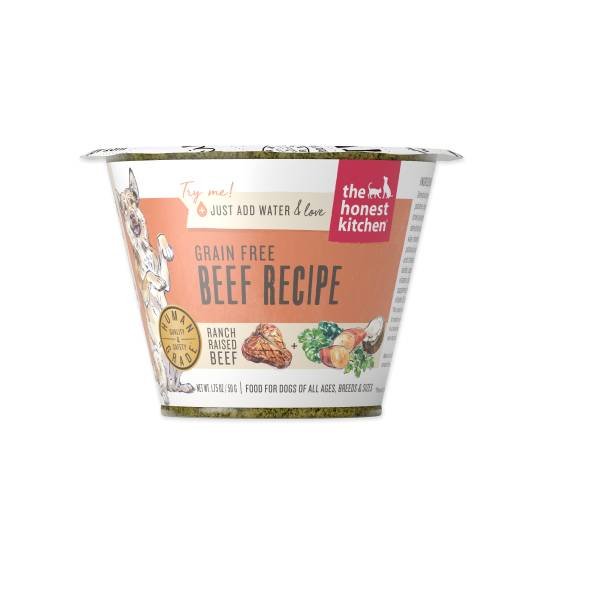 Honest Kitchen Honest Kitchen Grain Free Beef Single Cup 1.75oz