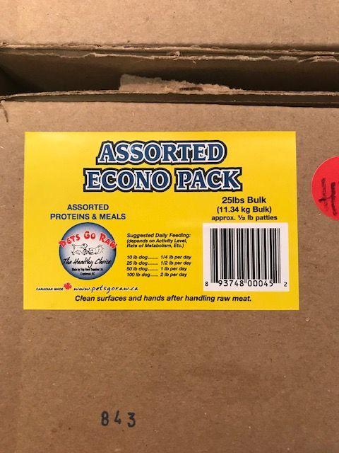 Pets Go Raw Pets Go Raw Asst Econo Pack 25lb