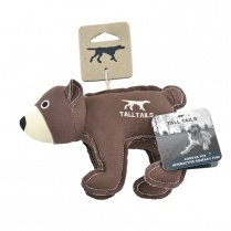 "Tall Tails Tall Tails Canvas 5"" Bear w/ Squeaker"