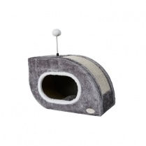 Budz Budz Snail Cat Shelter & Scratch Box Gray