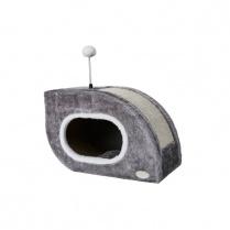 Budz Budz Snail Cat Shelter & Scratch Box Gray