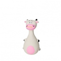"Budz Budz Latex 5.5"" Cow w/ Squeaker"